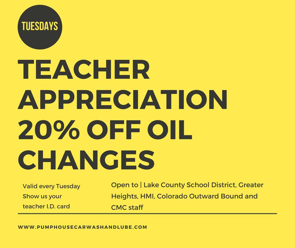 Teacher Appreciation is on Tuesdays